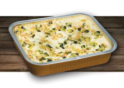 Pasticcio zucchine e gamberetti