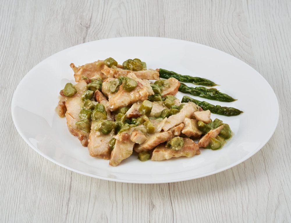 Straccetti di pollo agli asparagi